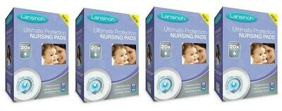 Lansinoh Ultimate Protection Nursing Pads 4 Pack 194 Total Count Dmg Boxes B177