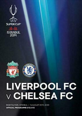 SUPER CUP 2019 CHELSEA v LIVERPOOL OFFICIAL MINT PROGRAMME & FREE POSTER
