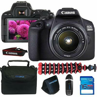 Canon EOS 2000D / Rebel T7 Camera with EF-S 18-55mm f/3.5-5.6 is II Lens (Black)