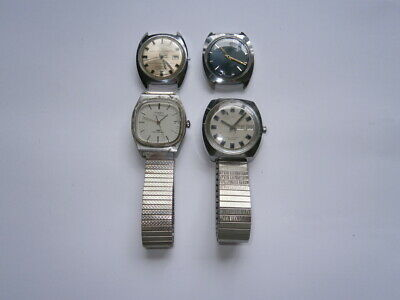 Job lot of vintage gents TIMEX watches automatic watches spares or repair