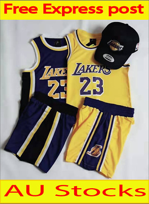 new product f7d25 434d9 LEBRON JAMES #23 LA Lakers Kids Children's Youth NBA ...