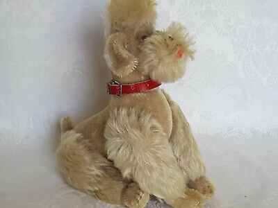 "Sweet Steiff Snobby Poodle, Blonde Mohair, Fully Jointed,  9"" Vintage Germany"