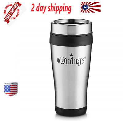 Dininge Stainless Steel Insulated Travel Mug  16 Oz.Leakproof and Spill proof...