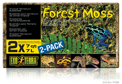 Exo Terra Forest Moss Tropical Terrarium Substrate 2x7L Bricks PT-3095
