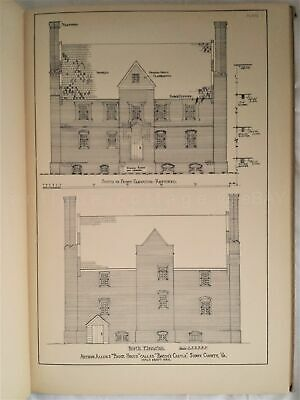 1930 antique ARCHITECTURAL FLOOR PLANS ELEVATION BOOK colonial georgian HOUSES
