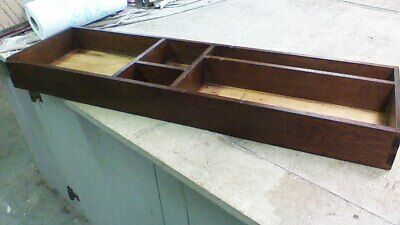 Old Primitive Vintage Antique Large Wood Tray Box Compartments Display Organizer