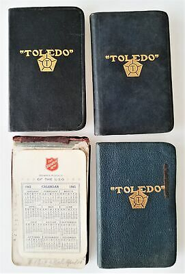1940s LOT antique DIARY hartford ct GEORGE P MEADE 3pc diaries notebook calendar