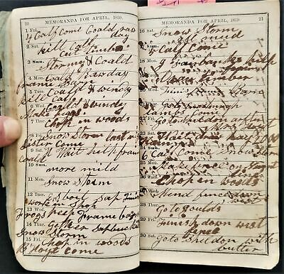 1859 antique DIARY vermont DIRECTORY ads bees hotel med MAP history SAM OLMSTED