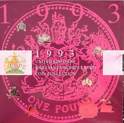 1993 Brilliant Uncirculated Coin Collection Inc EEC50p