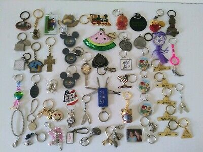 "50 + vintage keychain lot 80s to present. ""UNIQUE PIECES"""