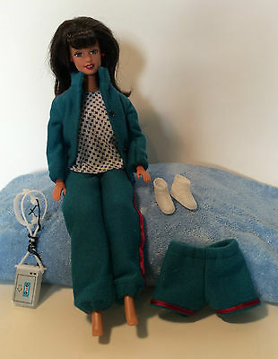 Blue Jogging Suit Dollhouse Doll Clothes Barbie Shorts Pants Jacket Walkman 11.5