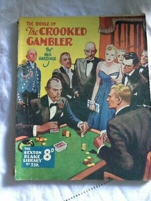 Sexton Blake Library 256 - S3 Riddle of Crooked Gambler Detective Vintage Crime