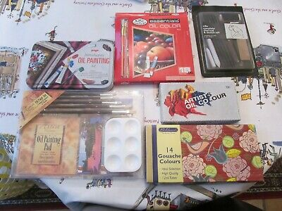 Job Lot Oil colour Art Paint Tubes Sets L@@K.