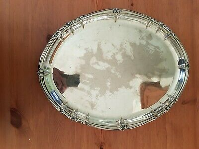 A VINTAGE SILVER PLATED TRAY - Alfra Italy