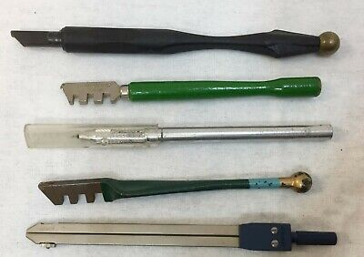 Crafters Tools Small Blade Xacto Knife Fletcher Glass Cutter Staedtler Compass