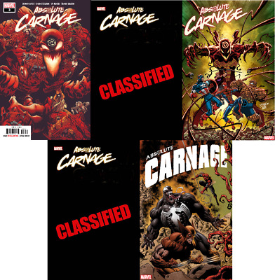 Absolute Carnage #1 1:500 Artgerm 1:200 Red Blank 1:100 1:50 1:25 Dell'otto Var