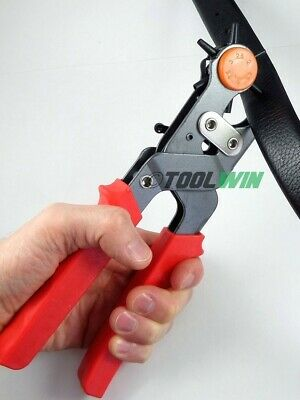 Leather Hole Punch Belt Puncher Tool Heavy Duty Hole Maker Revolving Rotary