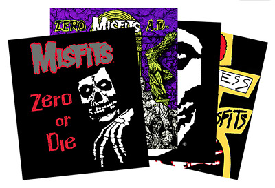 MISFITS x ZERO Skateboards Limited Edition Decal Sticker Pack (4 Stickers)