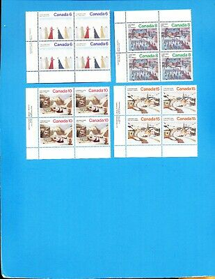 CANADA - Scott 650-653 - VFMNH Blocks - Christmas 1974