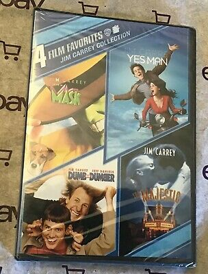 4 Film Favorites: Jim Carrey The Mask | Yes Man | Dumb and Dumber (DVD) Majestic