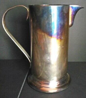 Vintage Silver Plated Water Tankard  Poole Silver Co. With Handle Circa 1960'S