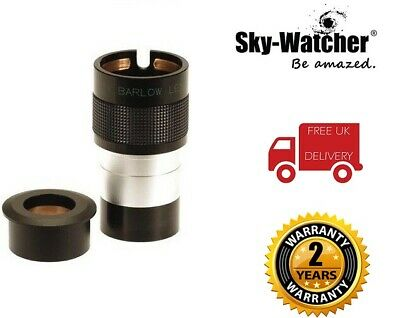 SkyWatcher 2x 2 Inch ED Deluxe Barlow Lens With 1.25 Inch Adapter (UK Stock)