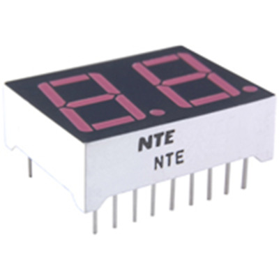 NTE Electronics NTE3075 LED Display Red 2-digit 0.560 Inch Seven Segment Common