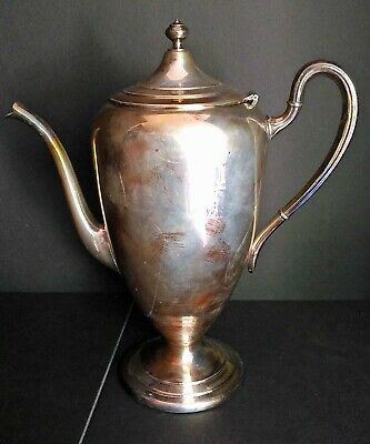 "Vintage Silver Plated Modern Coffee Pot ""Pbr""  Poole Silver Co. 2314 Stamped 2X"