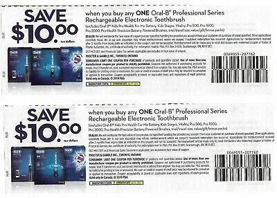 save $20 on ORAL-B Rechargeable Toothbrush Electronic Professiona ,Bonus [Canada