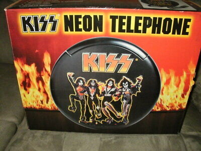 Kiss 1997 Official Neon Telephone With Box Paul Stanley Gene Simmons Ace