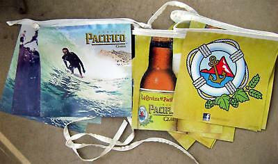 Pacifico Clara Beer New 22 ' Bar Banner Sign..16 Panels w/ Surfer & Cliff Diver
