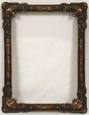 Antique Early 20th C Art Nouveau Painted Frame 7 1/8 x 9 5/8 Opening
