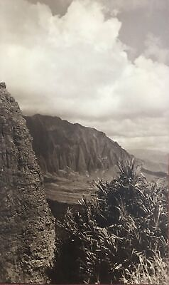 1935 Vintage Photograph Of Windward Oahu And The Pali Hawaii