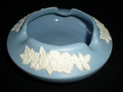 Vintage ECanada Art Pottery Blue Jasperware Ashtray
