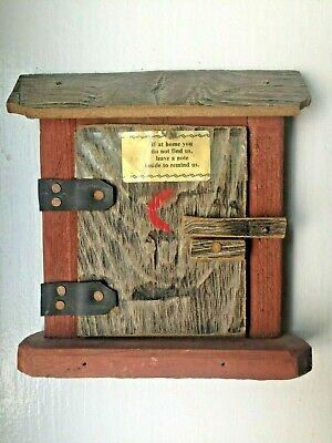 Vintage Outhouse/Shed Decor - Leave A Note - Door Sign
