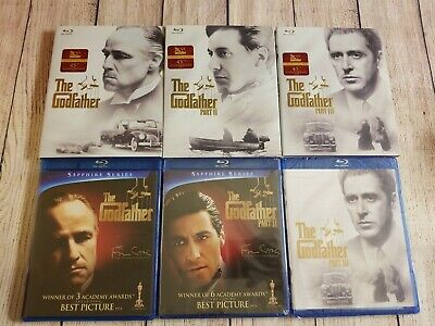 The Godfather Blu-ray Trilogy w/ OOP Rare 45th Anniversary Slipcovers. Part 1-3