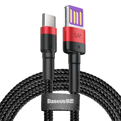 Genuine Baseus Galaxy S10 / S9 S8 Plus Type C USB-C Sync Charger Charging Cable