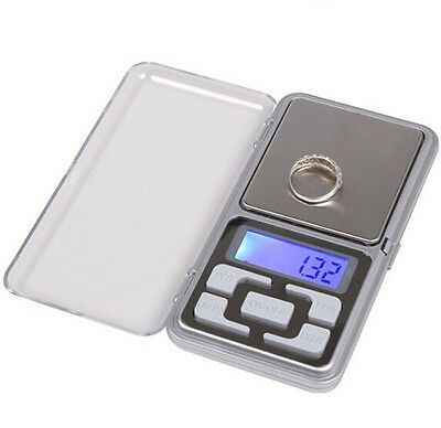 200g x 0.01g Digital Electronic Jewelry Scale Gold Herb Balance Weight Gram LCD