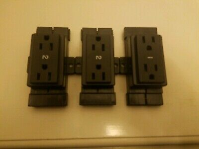 Wholesale Lot of 3 Office Cubicle Outlets 15 Amp