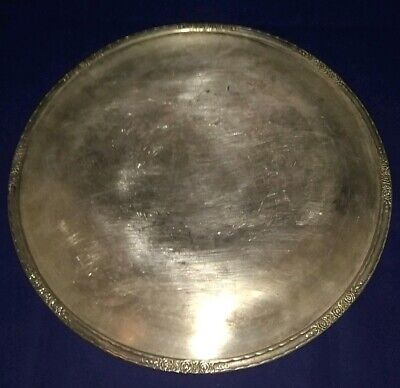 Antique Camille International Silver Co Silverplate Decorative Footed Cake Plate