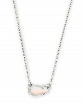 Kendra Scott Jayde Necklace in White Kyocera Opal with Silver Rhodium Frame