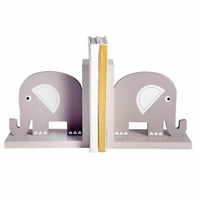 Bookends - Elephant - Grey Children's Book Ends Nursery Decor Kids