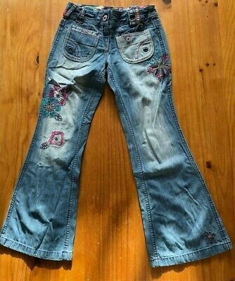 Girls Next Size 12 Years Floral Embroidered Flared Grooovy Jeans