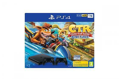 Sony Playstation 4 1 Tb Console PS4+Gamepad+Gioco Crash Team Racing Nero 9936909