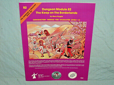 D&D 1st Ed Module - B2 THE KEEP ON THE BORDERLANDS (ONLY 5,000 MADE & NR MINT!!)