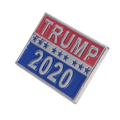 1PC Donald Trump Metal Brooch Pin For President 2020 Republican Support Supplies
