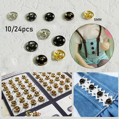 Mini Button Buckle DIY Doll Clothes Metal Buckle Invisible Sewing Accessories