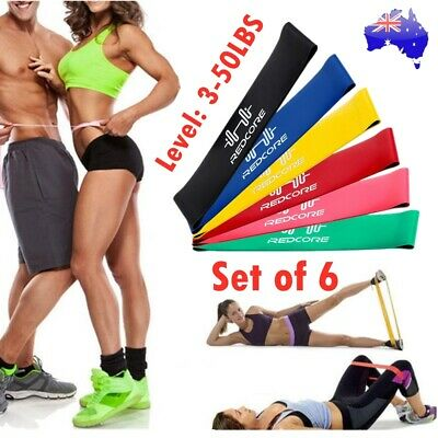6X Strength Band Power Resistance Loop Bands Training Exercise Gym Yoga Fitness