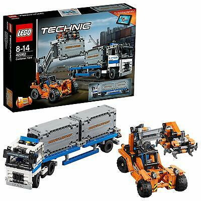 LEGO 42062 Technic 2-IN-1 Model Container Yard And Straddle Carrier Building Set