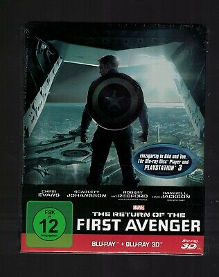 Marvel COMICS 3 Blu ray new  First Avengers Captain America steelbook exclusive